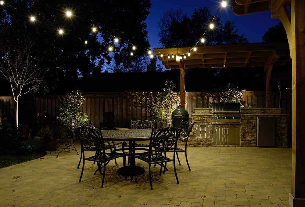 Outdoor patio and event space lighting design