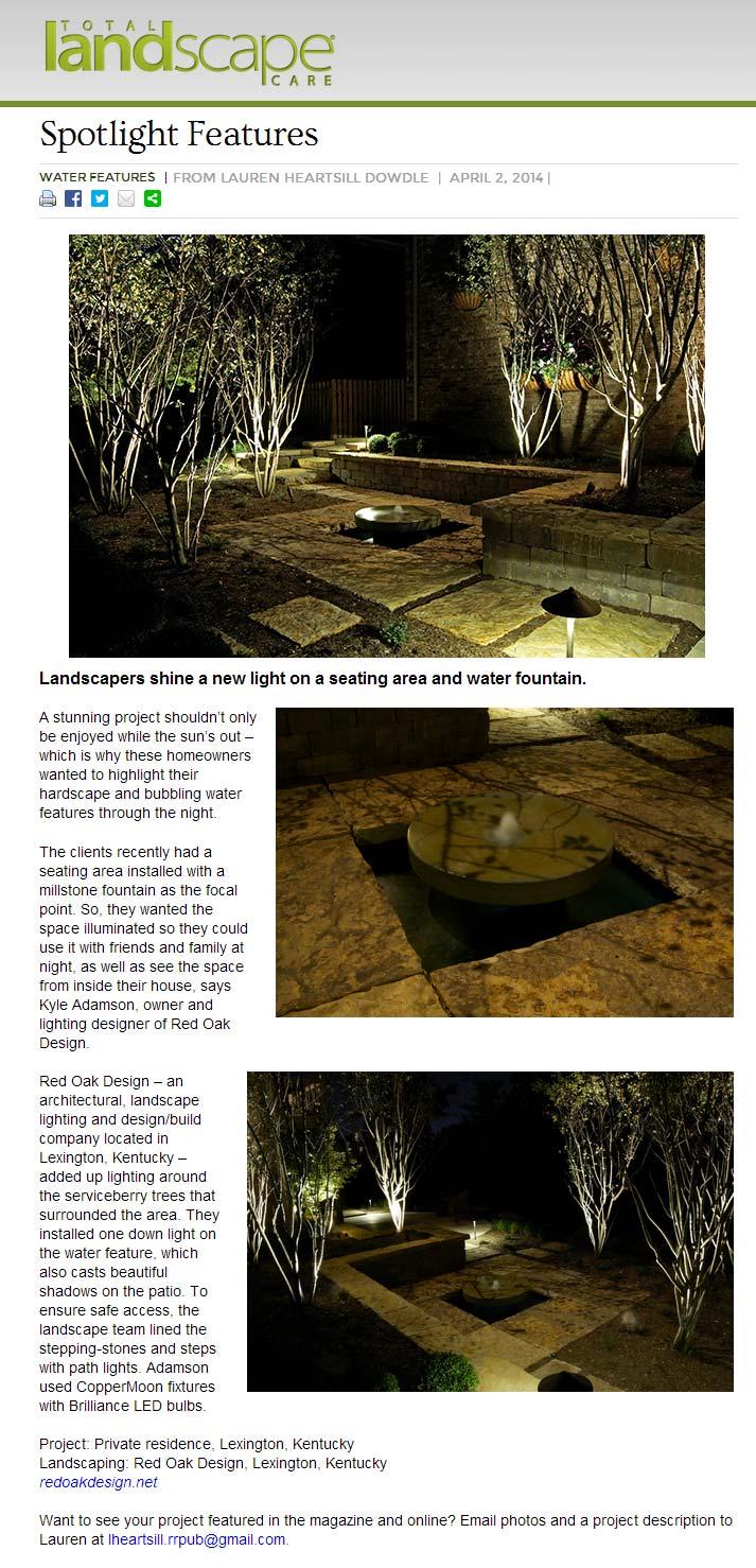 Total Landscape Care April 2014 Spotlight
